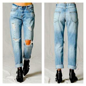Boyfriend Cuff Denim Jeans